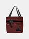 महिलाओं ने कैट स्ट्राइप्ड हैंडबैग शोल्डर बैग कैरी किया - लाल