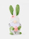 1PC Easter Faceless Doll Plush Elf Dwarf Bunny Gnome Decoration Desk Ornament Bring Good Luck Family Kids Toys Party Decor Perfect Gift - Green