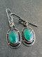 Vintage Geometric Women Earrings Synthesis Chalcedony Pendant Earrings Jewelry Gift - Silver