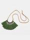 Bohemian Cotton Thread Tassel Long Necklace - #07