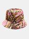Women & Men Floral Overlay Print Pattern Casual Outdoor Visor Bucket Hat - #03