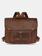 Multi-carry Anti-theft Large Capacity Shoulder Bag Backpack  Crossbody Bag Briefcase - Coffee
