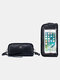 RFID Genuine Leather 6.5 inch Touch Screen Phone Bag Long Wallet Clutch Purse - Black