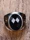 سبيكة خمر خاتم الخاتم القيل والقال خاتم أحجار كريمة بيضاوية الشكل - أزرق
