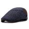 Casquette de béret enneigée pour hommes en coton d'hiver chaud