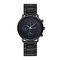 Leisure Sports Men Watch Full Alloy Case Small Three-Hand Dial Chronograph Quartz Watch - Blue