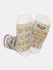 メンズ&レディースコットンゴールドパウダーレターストライプパターンカジュアルフェスティブクリスマスチューブソックス - #02