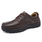 Large Size Men Genuine Leather Comfortable Lace Up Business Casual Shoes