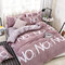 4Pcs Summer Cooling Washed Polyester Cotton Bedding Sets Qulited Duvet Cover Blanket