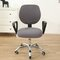 Split Computer Office Chair Cover Stretch Desk Task Rotat Seat Covers Slipcover - Grey