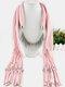 20 Colors Bohemian Women Scarf Necklace Shawl Autumn Winter Tassel Pendant Necklace - #05