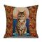 Retro Style Cats Leinen Baumwolle Kissenbezug Home Sofa Art Decor Throw Kissenbezug - #3
