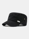 Men Cotton Casual Outdoor Travel Sport Sunvisor Breathable Flat Hat Peaked Cap - #01