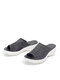 Women Large Size Solid Color Knitted Breathable Casual Wedges Slippers - Black