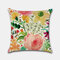 Tropical Flower Pillowcase Hand-Painted Rainforest Digital Printed Linen Without Core - #4