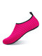 Plus Size Women Beach Water Proof Snorkeling Shoes Mesh Material Antiskid Upstream Wading Sneakers - Rose Red
