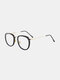 ユニセックスオーバルフレームメタルとPCフレームアンチブルーライトアンチUVサングラス - #09