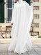 Plus Size Muslim Double Layer Two-piece Chiffon Maxi Dress - White