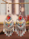 Ethnic Bohemia Vintage Drop-shape Alloy Chinese Style Earrings - Rainbow