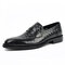 Men Woven Style Penny Loafers Slip On Casual Slippers  - Black