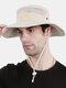 Unisex Outdoor Solid Climbing Fishing Sunshade Adjustable Side Buckle Bucket Hat - Beige