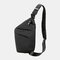 Men Oxford Luminous Multi-pockets Large Capacity Anti-theft Waterproof Crossbody Bag Chest Bag Sling Bag - Black