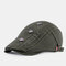 Vintage Casual Literary Beret Caps Breathable Flat Caps - Green