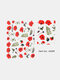 5D Relief Craft Colorful Butterfly Flower Pattern Three-Dimensional Watermark Nail Sticker - #04