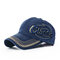 Men Women Adjustable Baseball Hat Golf Embroidery Snapback Hip-hop Sports Cap - Blue