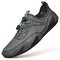 Men Large Size Breathable Mesh Fabric Lace-up Octopus Botton Casual Shoes - Gray