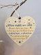 Placa de madeira para presente pendurada com chip de Natal de madeira Pingente Coração Decoração de garrafa de vinho em forma de etiquetas para casa - #13