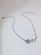 Horizontal Sunflower Women Necklace Diamond Mount Flower Pendant Clavicle Chain - Silver