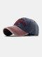 ユニセックスコットン太い文字パターン刺繡調節可能なカジュアル野球帽 - ネービー