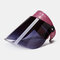 Hollow Breathable Anti-UV Big Brim Cover Face Hat Sun Hat Empty Top Hat  - Rose