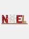 1Pc Christmas Festival Decorations Wooden Letter Decoration Desktop Creative Printing Decoration - #03