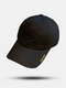 Unisex Cotton Solid Color Letter Pattern Embroidery Sunscreen Fashion Baseball Cap - Black