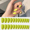 24Pcs/Box Full Cover Frosted Ballet Nail Tips Almond Press On Nails Wearable Fake Nail with Glue - 9