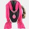 Bohemian Dacron Multi-layer Necklace Handmade Teardrop Pendant Tassel Women Scarf Shawl Necklace - 08