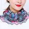 Polka Dot Floral Breathable Printing Masks Neck Protection Sunscreen Ear-mounted Scarf - #04