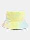 Men & Women Corduroy Tie-dye Double-sided All-match Outdoor Bucket Hat - #02