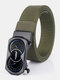 Men Nylon 120cm Automatic Buckle Fashion Outdoor Business Belt - Army Green