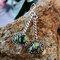 Bohemian Drop-Shaped Color Turquoise Swing Women Pendant Earrings - Silver