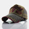 Baseball Cap Retro Sun Hat Embroidery Hats - Coffee