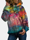 Painting Vintage Print Long Sleeves Casual Hoodies For Women - As Picture