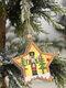 1Pc Christmas Ornament Lighted Wooden Walnut Soldier Pendant Small Tree Pendant Pendant - #06