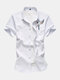 Mens Birds Embroidered National Style Short Sleeve Desginer Shirts - White