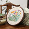 Embroidery Starter Kit With Pattern Stamped Embroidery Kit Including Embroidery Cloth With Pattern Bamboo Embroidery Hoop Color Threads Needle Kit - #4