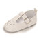 Girls Toddler Shoes Stars Carved Hollow Hook Loop Soft Comfy Loafers - White