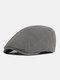 पुरुषों और महिलाओं के ठोस रंग आकस्मिक आउटडोर आगे टोपी फ्लैट टोपी टोपी टोपी - धूसर