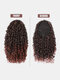 8 Color Africa Small Curly Ponytail Soft Fluffy Gradient Middle-Length Curly Wig Piece - #05